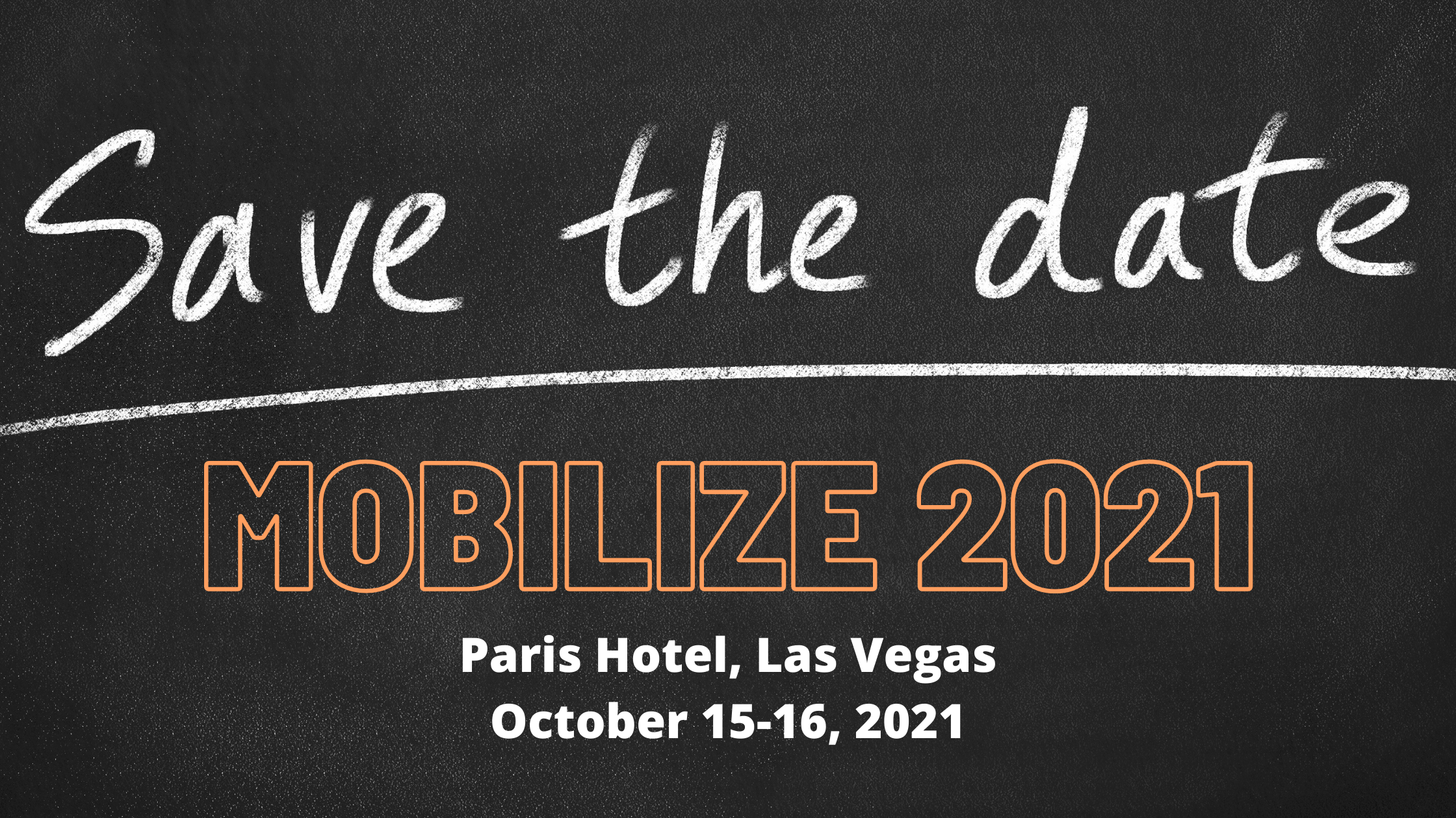 Save the Date Mobilize 2021